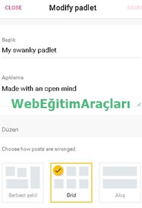 padlet_panoekranı_ayarlar Padlet