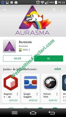 Aurasma Uygulamasını Telefona Yükleme