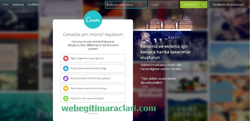 Canva Web 2.0 Uygulaması