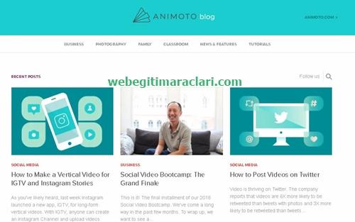 Animoto Web 2.0 Uygulaması