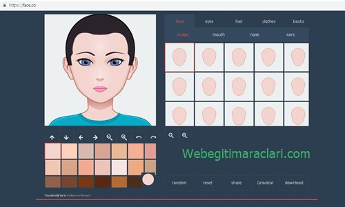 Face.co Web 2.0 Aracı