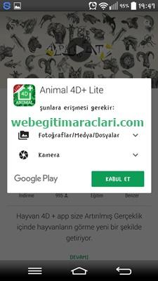 Animal 4D Web 2.0 Aracını Yüklenmesi