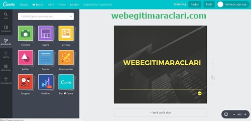 Canva Web 2.0 Uygulaması Düzenleme