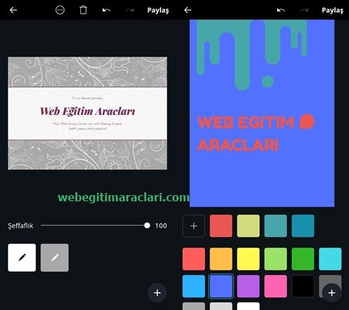Canva Web 2.0 Mobil Uygulaması Düzenleme