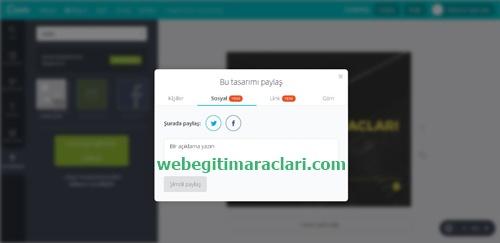 Canva Web 2.0 Uygulaması Paylaşma
