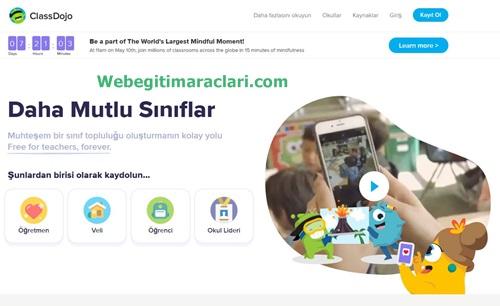 Class Dojo Web 2.0 Uygulaması Anasayfa