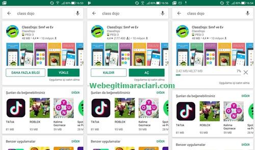Class Dojo Web 2.0 Uygulaması Mobil Cihaza Yüklenmesi