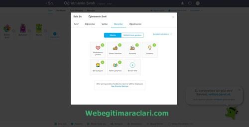 Class Dojo Web 2.0 Uygulaması Öğrenci Beceri Sayfası
