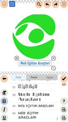 Logopit Maker Plus Yazı Ekleme